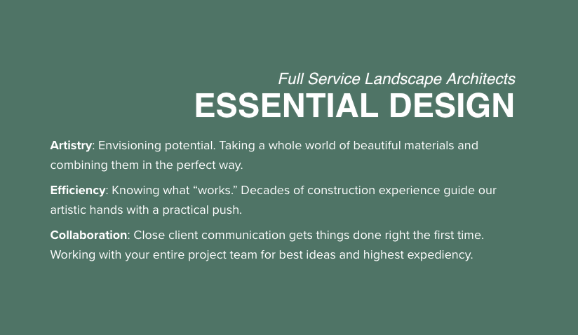 Full-Service Landscape Architects