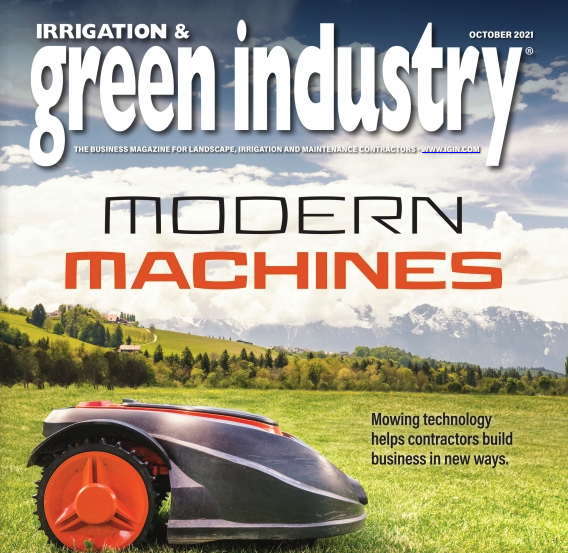 Green industry magazine cover